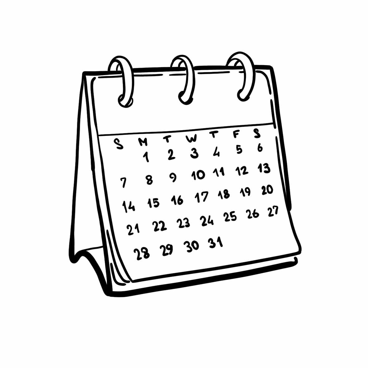 Картинки календарь распечатать